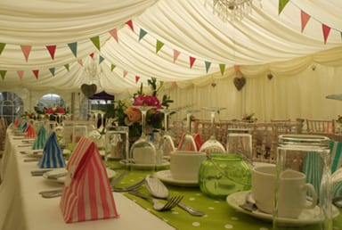 Marquee Hire Suited To Narrow Space