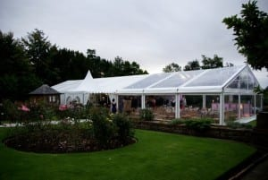 clear roof marquee outside view