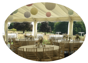 Burloes Hall Hertfordshire Marquee Hire for Wedding - Inside View