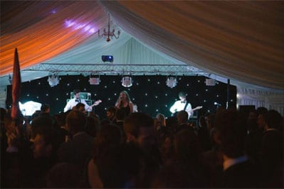 Marquee for Cambridge May Ball - Internal View