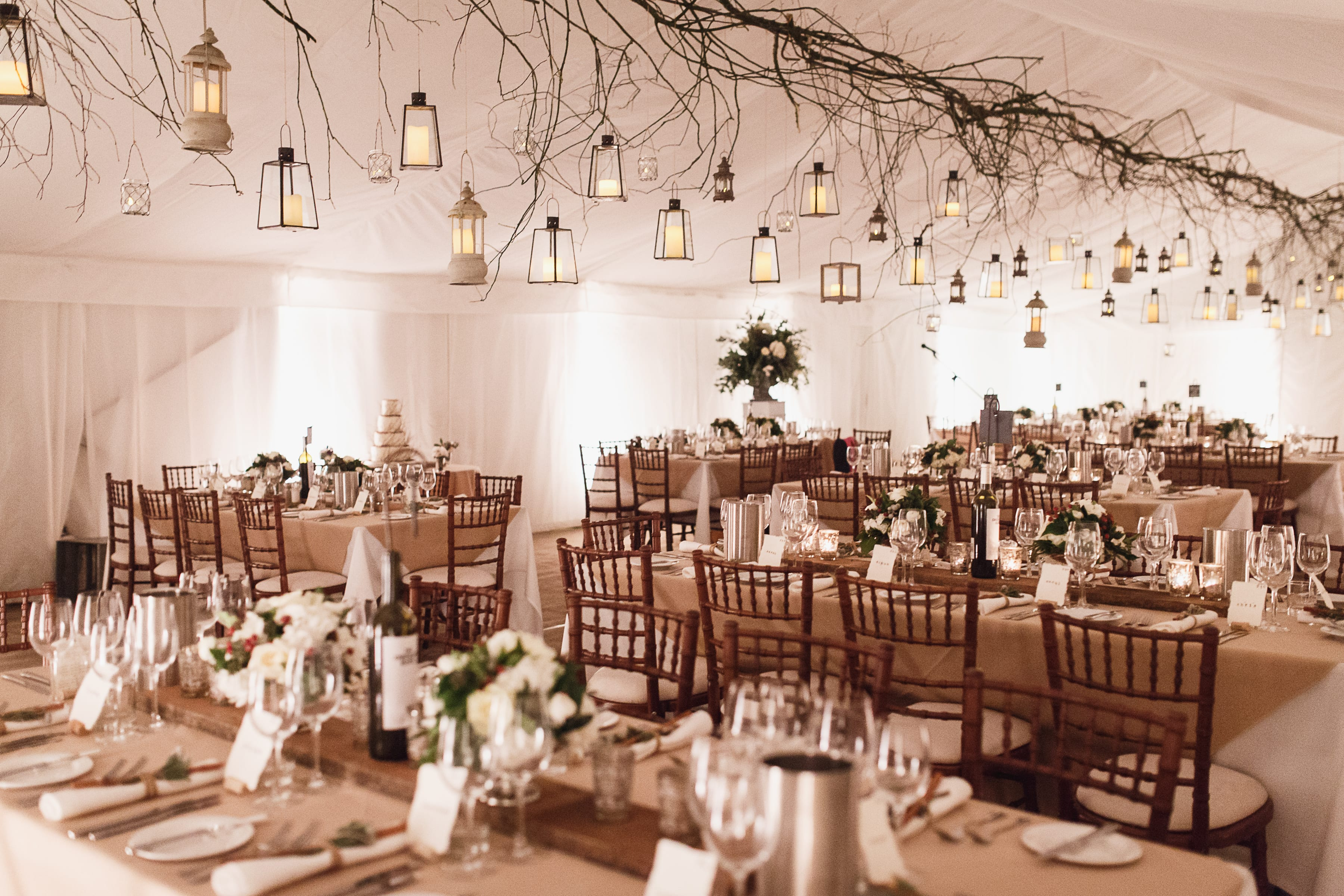 wedding marquee ceiling decorations