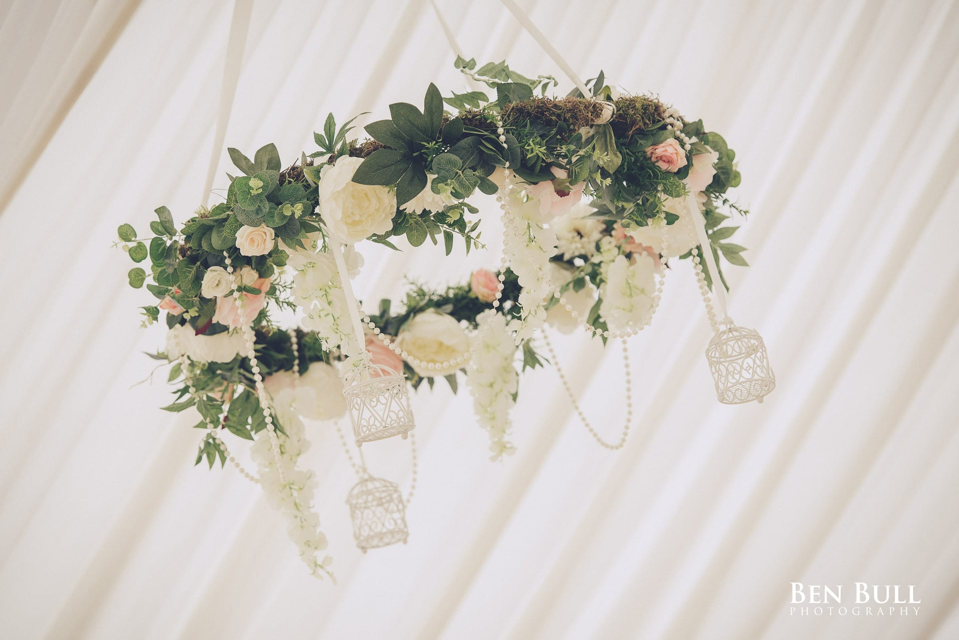 Decorative floral hoop for Summer Wedding