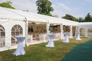 Rugby Club Marquee Wedding Venue