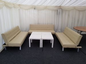 Marquee seating area