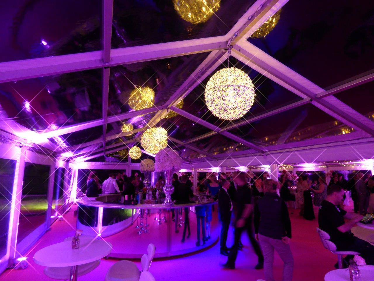 Party Marquee Hire Herts, Beautiful open roof Marquee Hire, Stunning Decoration.