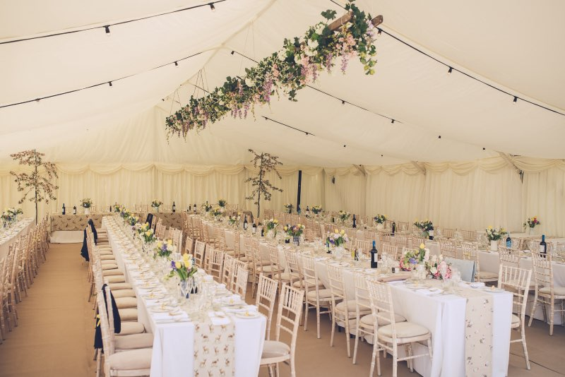 Wedding Marquee Hire Herts, Stunning Decoration and carpet